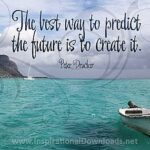 648 Create the Future by Peter Drucker Inspirational Quote Graphic