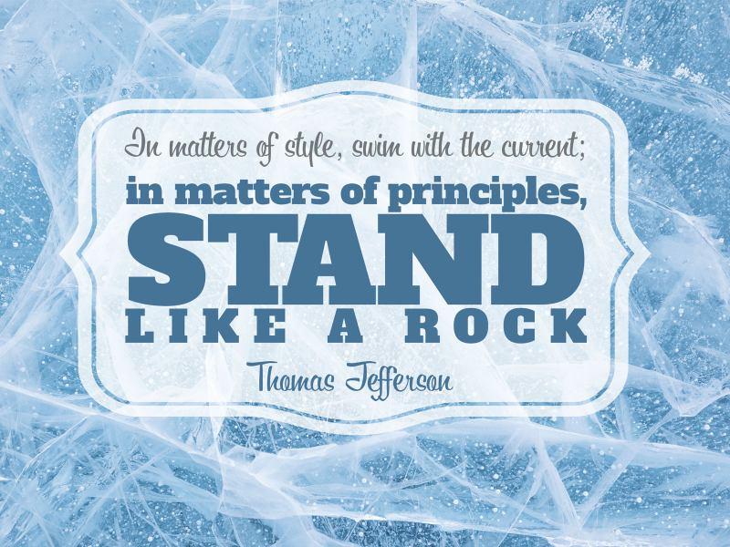 Matters of Principles