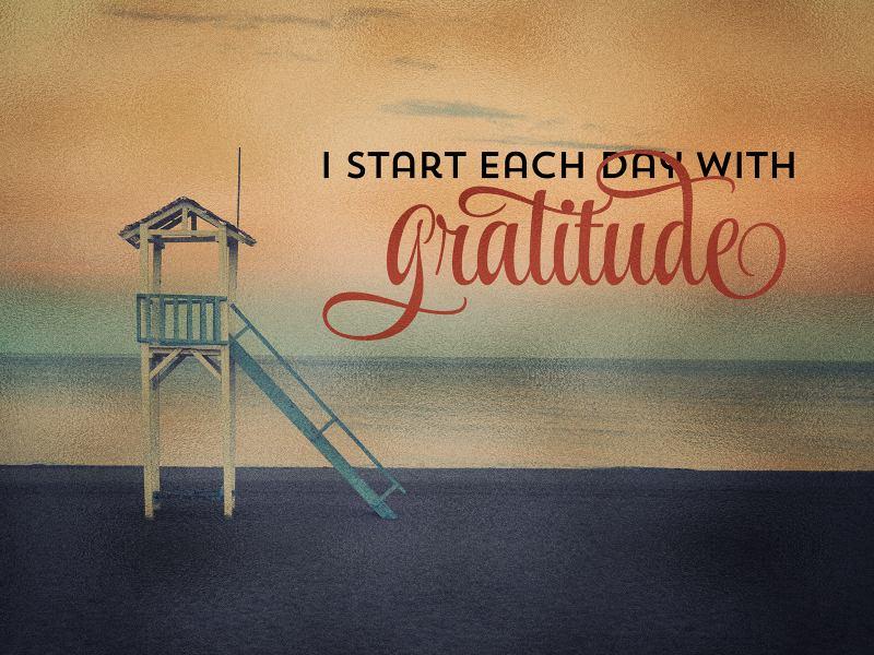 Start Each With Gratitude (2539-Gratitude)