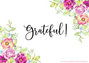 Grateful Ecard Floral Illustrations 1-9 Grateful-PDBnet